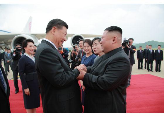 Xi Jinping Arrives in Pyongyang - Image