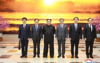Kim Jong Un Hosts Dinner for Special Envoy Delegation of S. Korean President - Image