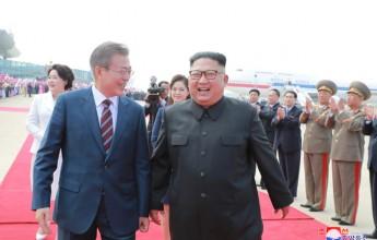 President Moon Jae In Arrives to Visit Pyongyang - Image
