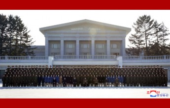 Supreme LeaderKim Jong UnHas Photo Session with DPRK Friendship Art Delegation - Image