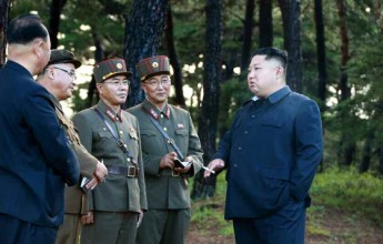 Supreme LeaderKim Jong UnGuides Test-fire of New Weapon Again - Image
