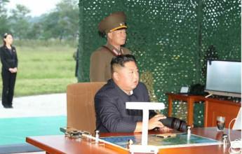 Supreme Leader Kim Jong Un Guides Test-Fire of Super-large Multiple Rocket Launcher  - Image
