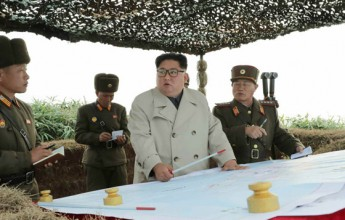 Dear totop IlKim Jong-uncomrades had He inspected the Changlin Defense Guard on the western front - Image