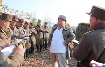 DearestcomradeKimJong-un, guided the artillery fire training of the Mortar Artillery Division by the Korean People's Army Corps. - Image