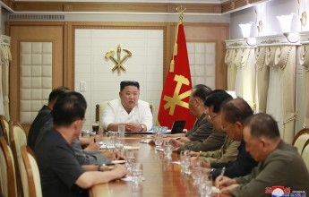 Supreme LeaderKim Jong UnConvenes Enlarged Meeting of Executive Policy Council of C. C., WPK in Typhoon-hit Area before Inspection - Image