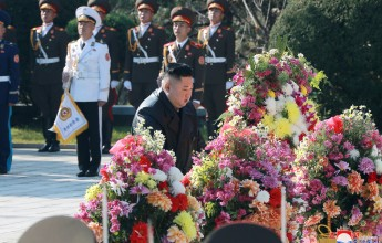 On the occasion of the 70th anniversary of the Chinese People's Support Army's participation in the Joseon War, the dear Supreme Leader, Comrade Kim Jong- un , visited the Chinese People's Support Forces Ryeosareungwon and expressed their noble respect t - Image