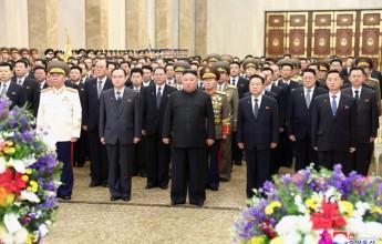Respected Comrade Kim Jong Un Visits Kumsusan Palace of Sun - Image