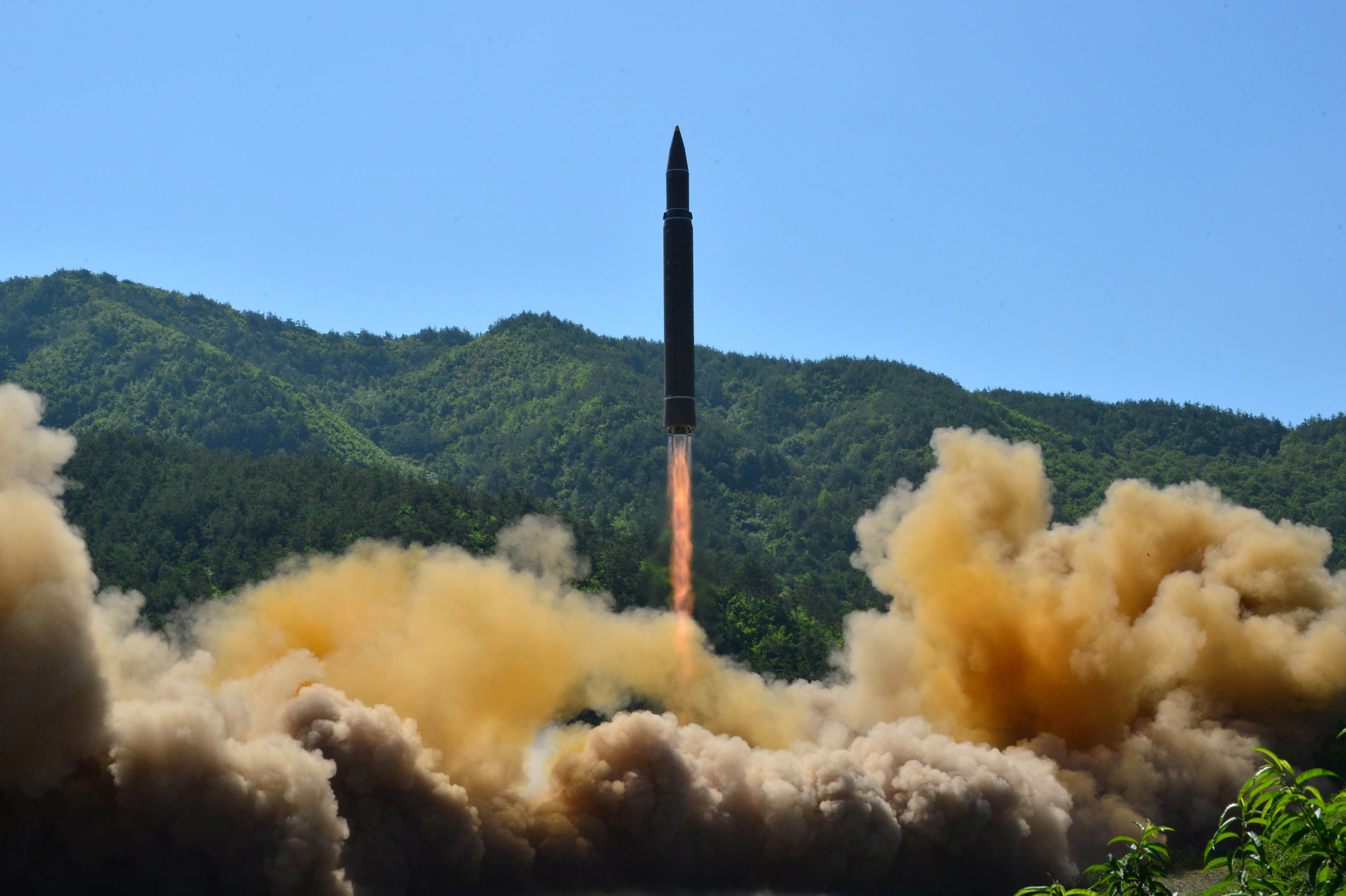 Guidance to Second Test-fire  of ICBM Hwasong-14 - Image
